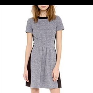 Madewell Parkline Dress in Gray Colorblock Size 4